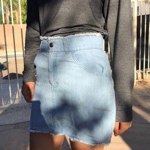 silence + noise denim skirt